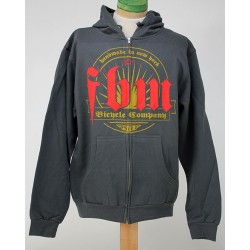 F.B.M.BIKES STELLAR ZIP UP HOODIE CHARCOAL GREY LARGE