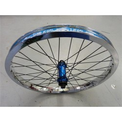 SIBOTBMX CUSTOM SEASON ECLIPSE-TREE BIKES FEMALE FRONT WHEEL CHROME-BLUE
