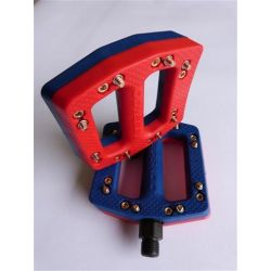 NEW ODYSSEY JC-PC CUSTOM PEDALS FIRE RED/ BLUE