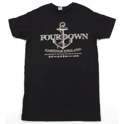 4DOWN ANCHOR TEE SMALL BLACK
