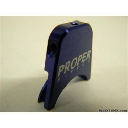 PROPER CNC BRAKE CABLE HANGER BLUE