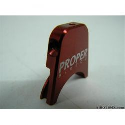 PROPER CNC BRAKE CABLE HANGER RED