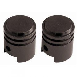 SC PISTON ALLOY VALVE DUST CAPS ANODIZED BLACK