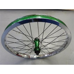 SIBOTBMX CUSTOM SEASON ECLIPSE-TREE BIKES FEMALE FRONT WHEEL CHROME-GREEN