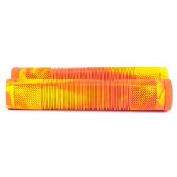 UNITED BIKES G-SLATE GRIPS FLURO ORANGE-YELLOW TIE DIE