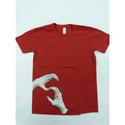 HANDS OF BROTHERHOOD TEE CHERRY RED LARGE