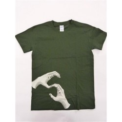 HANDS OF BROTHERHOOD TEE FORREST GREEN   X/LARGE