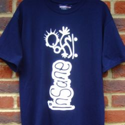 INSANE-SKATE MAN-TEE NAVEY BLUE XL