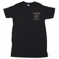 4DOWN BOX TEE X/LARGE BLACK